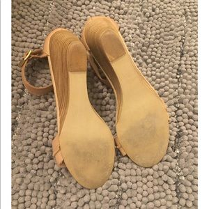 Shoes - Steve Madden nude wedge sandals